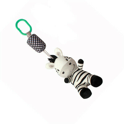 Baby Cartoon Animal Hand Bed Bell Ring Mobile Plush Infant Hanging Rattle Toy CB
