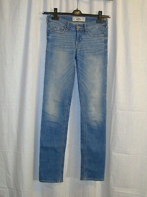 Women's HOLLISTER blue stretch skinny jeans size 0R W24 L33 great cond