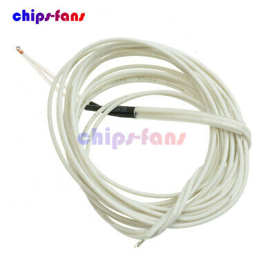 10PCS NTC 3950 1% Thermistor 100K ohm With Cable Finished for 3D Printer Reprap