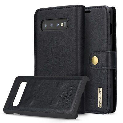 For Samsung S10+e/S9/S8/S7/Note 9/8 Leather Removable Wallet Magnetic Case Cover