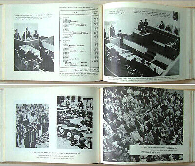 1965 Jewish SIGNED BOOK Holocaust EICHMANN TRIAL Nazi WAR CRIMES Israel HEBREW