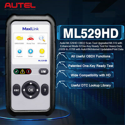 AUTEL ML529 HD Heavy Duty Truck Diagnostic Scan Tool