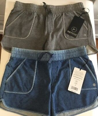 NWT 90 Degree by Reflex Womens Shorts Color-HTR Grey-Size-Small-MSRP-$48.00