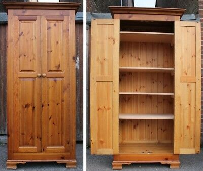 Shelved Pine Wardrobe - Linen Cupboard - Home From Home Store
