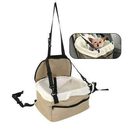 Foldable Pet Dog Puppy Cat Car Seat Carrier Belt Booster Travel Bag Safe Basket
