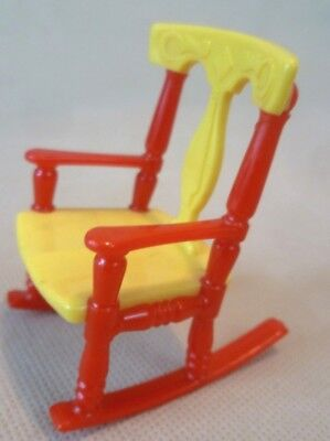 Vintage Dolls House Furniture - Renwal No.65 Plastic Rocking Chair - C1950s USA