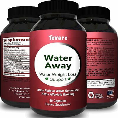 Best Water Away Pills by Tevare Diuretic Water Retention Relief for Weight Loss