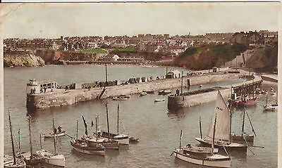 Vintage Postcard The Harbour Newquay Cornwall UK Posted 1940 No. 19929