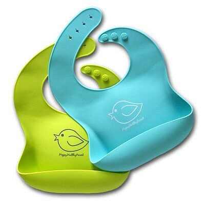 Waterproof Silicone Bib Easily Wipes Clean Comfortable Bibs Babies or Toddlers 2