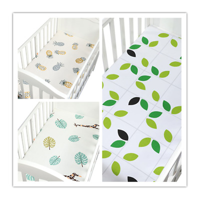 Flannelette Brushed Cotton Fitted Sheet Cot Moses Crib Bunk Bed pillowcase vcase
