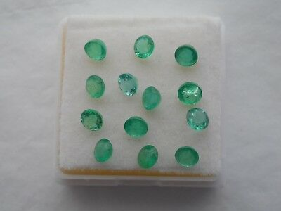 Zambian Emeralds 3.7mm round cut.