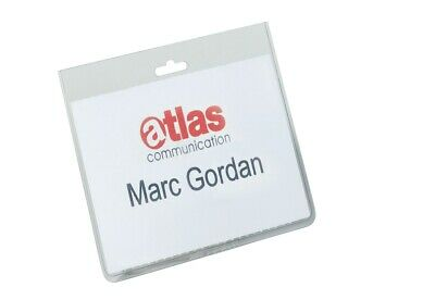 DURABLE Security Name Badges without Clip- Pack of 20