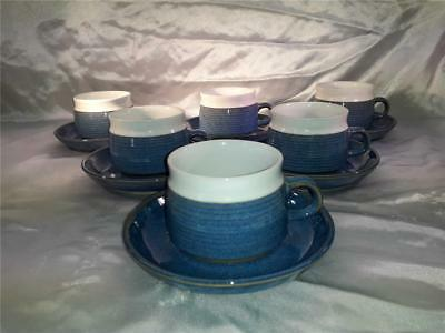 6 x Denby Chatsworth  Tea  / Coffee cups and saucers