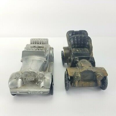 Vintage Ford 1906 1929 Models Banthrico Metal Car Banks Lot of 2