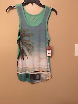 faafccbe459b7 Red Camel Men Tropical Tank Top Size Small NWT MSRP  20