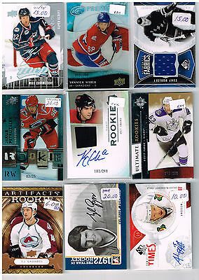 HUGE Lot Of 2009-10 Autos - Game Used - Rookies - Parallels - Inserts - Base