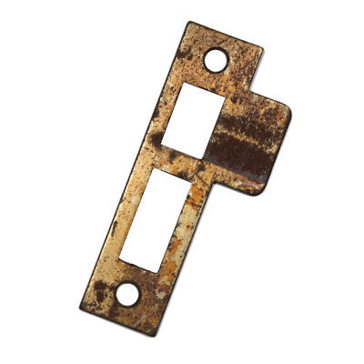 """Antique Salvaged Strike Plates for Mortise Locks, 9/32"""" Spacing, NSTP32"""