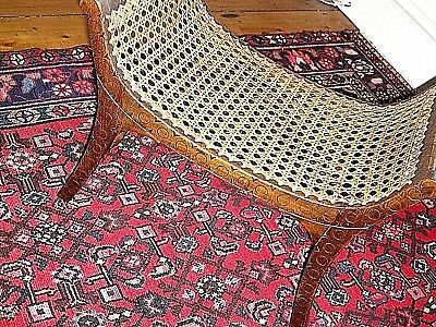 Antique wood and cane footstool- Regency style