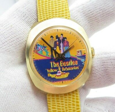 THE BEATLES,Yellow Submarine 70's Manual Wind,Rare! MEN'S CHARACTER WATCH,11