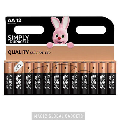 12 X Duracell Aa Long Lasting Power Alkaline Batteries Simply Pack Lr6 Mn1500