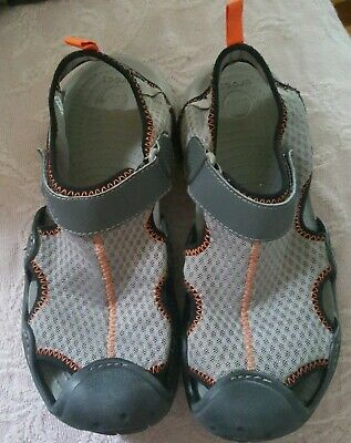 b79035b08751 CROCS 15041 SWIFTWATER Men s 7 gray blk orange MeshSandals River Water Shoes