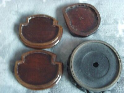 4 Antique nice chinese wood stands