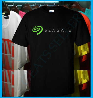 New Seagate Technology Logo T Shirt S-2XL American data storage company