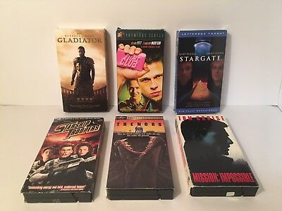VHS Tape Lot Of 6 90's/00's Action Sci Fi Fantasy Horror Auction Finds 702