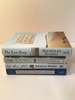 Lot of 4 Nicholas Sparks Books The Last Song The Lucky One Auction Finds 702