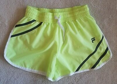 79bbe232d0c FILA WOMENS RUNNING Tempo Athletic Shorts Sz S Nwot New Black Pink ...