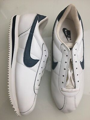 sneakers for cheap 35c04 a73dd VINTAGE 90s Nike Cortez Shoes Sneakers Running White Blue Swoosh Mens 10  901202