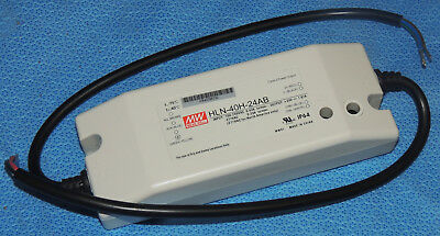 MW Mean Well HLN-40H-24A 24V 1.67A 40W Single Output LED Switching Power Supply with PFC