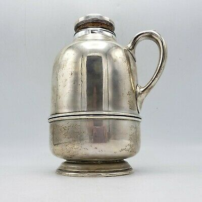 Vintage Schroth Sterling Silver Insulated Decanter Coffee Pot - Cork Top 3359