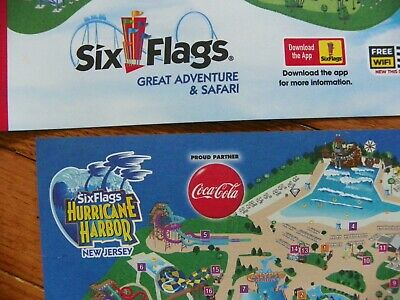 Brand New Six Flags Great Adventure And Safari New Jersey 2019 Map
