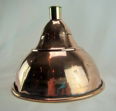 Large Antique Victorian Copper Brass Separation 2-Piece Funnel  Exceedingly RARE