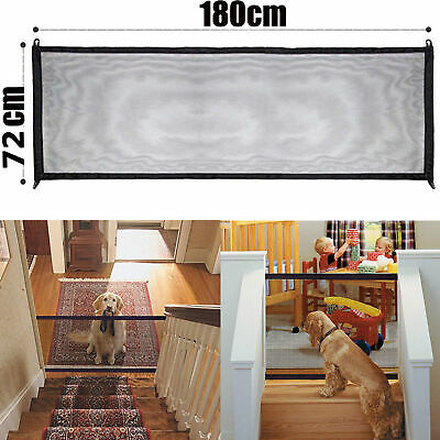 Mesh Magic Dog Cat Gate Guard Pet Safety Folding Enclosure Fence Easy Install