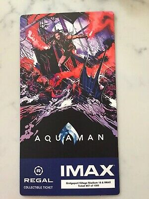 Aquaman Regal Movie Collector's Ticket ~ Limited Edition of 1000