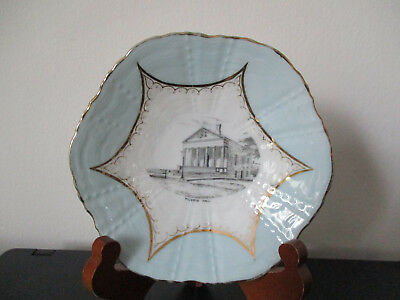 Circa 1910 Souvenir Robins Eggs Blue Bowl Pilgrim Hall Plymouth Massachusetts