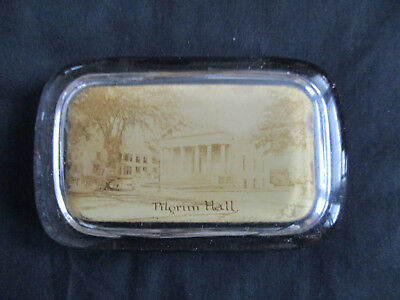 Circa 1910 Souvenir Paperweight Pilgrim Hall Plymouth Rock Massachusetts