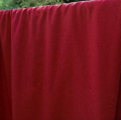 """Red Polyester Cotton Twill Woven Fabric 68"""" width Sold by the Yard"""