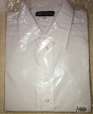 New Mens Geek Squad White Button Down Short Sleeve Shirt Sz 15.5 Best Buy