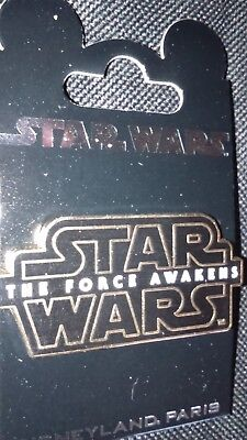 Pins Disney Disneyland Paris : Logo Star Wars‏