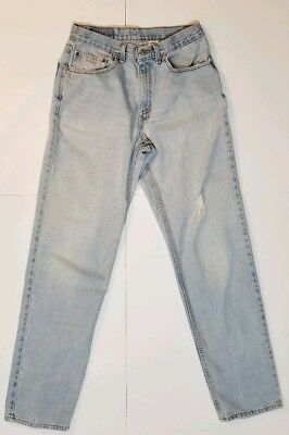 Vintage Men's Levi's 550 Red Tab Blue Jeans U.S.A. Distressed High Waisted 32x34