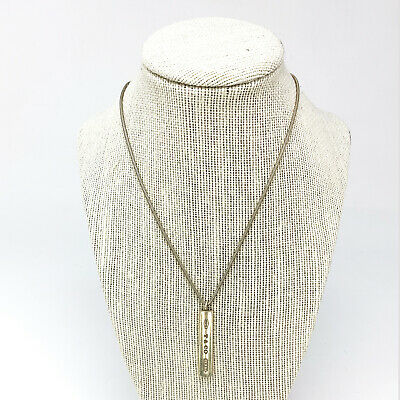 Tiffany & Co. Sterling Silver Bar Pendant 1837 Snake Chain Necklace