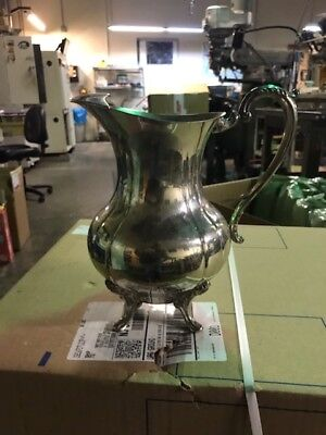 Antique-Sheridan-Silver-Silver--Plated-Water-Wine-Pitcher-W-Ice-Lip