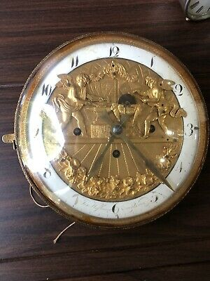 Austrian Antique Hofbauer In Wien Jaquemart Table Clock Movt Circa 1830