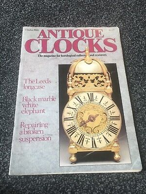 Antique Clocks October 1988  Magazine The Leeds Longcase