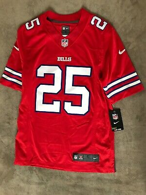 best service a419d ca332 LESEAN MCCOY #25 BUFFALO BILLS NIKE RED SZ XL AUTH AWAY ON ...