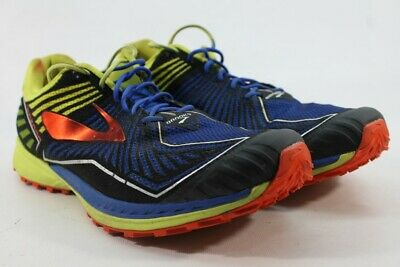 9668ea13f31 Brooks Mazama Men s Electric Blue Lime Cherry Trail-Running Shoes 12M