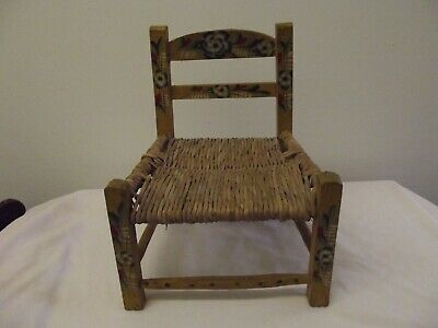 Antique Collectable Vintage Norwegian Rosemalling Toddler Chair
